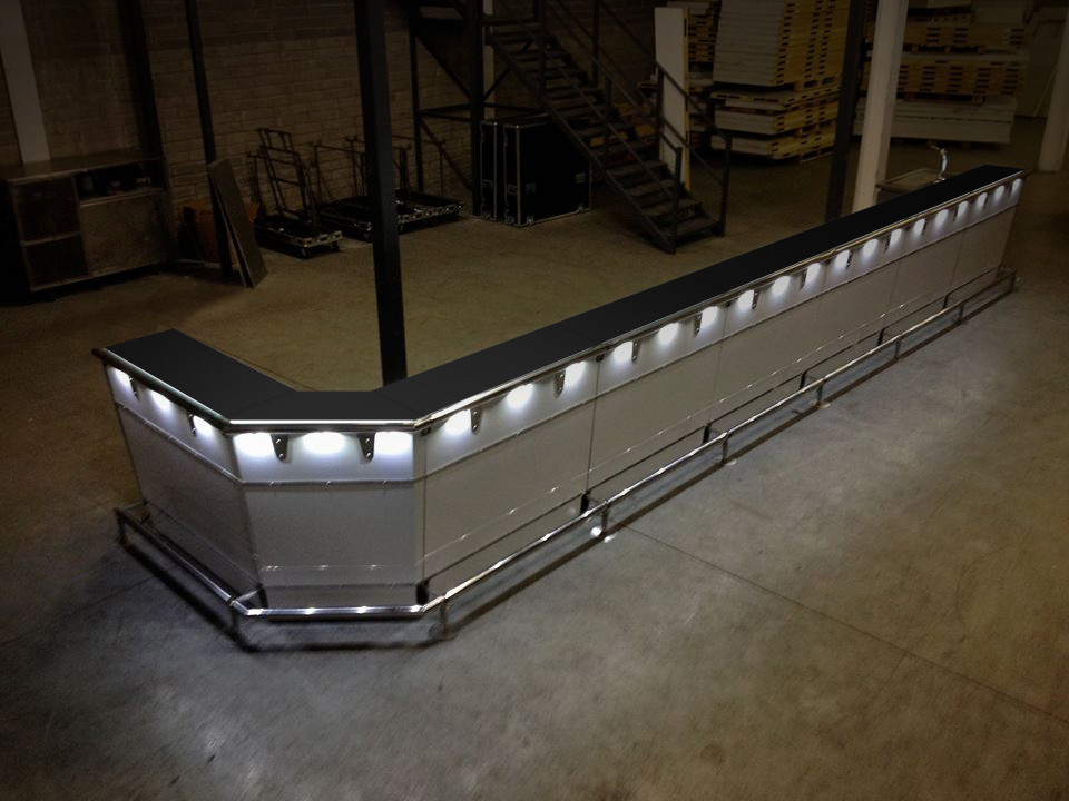 Mobile bar system from 1.2m to over 30 metres